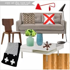 Copy Cat Chic Contemporary Living Rooms And Transitional Living Rooms