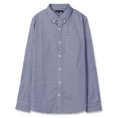 Topten10 Unisex Dark Navy Checks Formal Oxford Buttondown Cotton Dress Shirts #Topten10