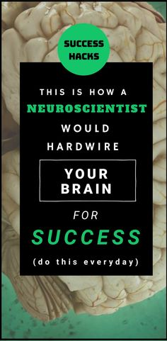 How to train your brain for success (this is simple)