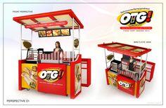 Cart-Kiosk by rommel laurente at Design 3d, Kiosk Design, Stand Design, Display Design, Booth Design, Food Stall Design, Food Cart Design, Mobile Food Cart, Mobile Bar
