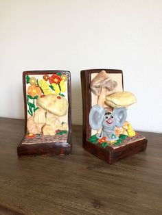 A personal favorite from my Etsy shop https://www.etsy.com/listing/464310598/ceramic-bookends-nursery-room-decor