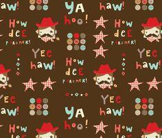 """""""Howdee Yul' world fabric by amel24 on Spoonflower - custom fabric"""