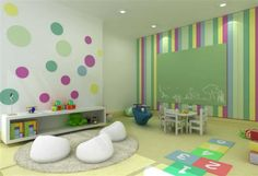 Things to Consider before Making Kids Playground Design Daycare Design, Classroom Design, Kids Corner, Office Interior Design, Home Interior, Baby Decor, Kids Decor, Toddler Daycare Rooms, Kids Church Rooms