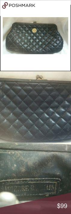 Purse Vintage quilted stitched pierre balmain large change/ makeup purse Pierre Balmain Bags Wallets