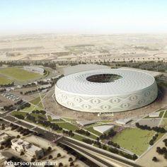 ورزشگاه ابراهم جیده برای قهرمانی جام جهانی ۲۰۲۲ قطر مکان: دوحه، قطر معمار: Qatar architect Ibrahim M Jaidah ظرفیت: ۴۰۰۰۰ نفر