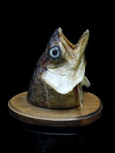 fish mouth head sculpture - Google Search