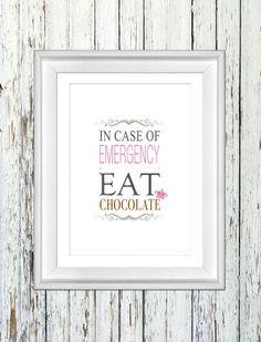 EAT CHOCOLATE / A4 von antrekken auf DaWanda.com