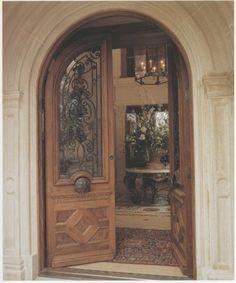 Superieur Custom Mahogany Arched Double Doors Mediterranean Front Doors
