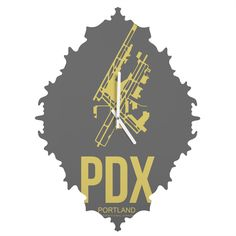 Naxart PDX Portland Poster Baroque Clock | DENY Designs Home Accessories