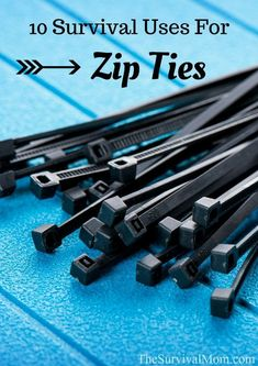 Zip ties have many practical uses in survival situations. Here are 10 uses for zip ties. #familysurvivalideas #UrbanSurvivalPrep