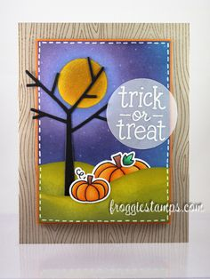 Lawn Fawn - So Thankful + coordinating dies, Trick or Treat, Woodgrain Backdrops _ awesome card by Kelli via Flickr - Photo Sharing!