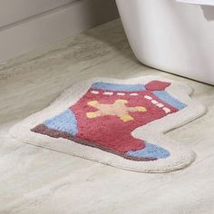 Zoomie Kids Priscila Boot Bath Rug