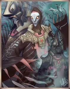 Usurper King Zant by ~StellaB on deviantART  by far the scariest and most disturbing LoZ boss ever……