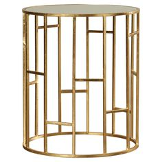 Doreen Mirrored Accent Table