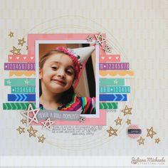 Never A Dully Moment Scrapbook Page Juliana Michaels for Elle's Studio #ellesstudio #julianamichaels #scrapbookpage