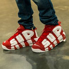 sports shoes e3cb1 ac57b Supreme x Nike Air More Uptempo