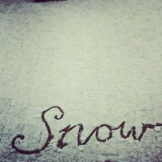 Repinned: #snow