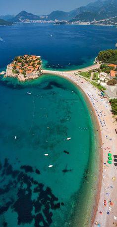 The paradise of Sveti Stefan, Montenegro #travel #island #beach