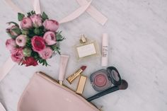 Blush & Cream Details - My updated for Spring makeup bag, including 'Eau Illuminee' fragrance by Parfumes Delrea. Pretty Makeup, Simple Makeup, Beauty Makeup, Hair Beauty, Beauty Room, Makeup Tips, Marc Jacobs Blush, Side Braid Tutorial, Spring Makeup