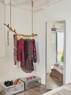 ideas organizar closet pequeno for 2019 Spare Bedroom Closets, Bedroom Closet Design, Closet Designs, Bedroom Decor, Apartment Closet Organization, Organization Ideas, Organizar Closet, Cheap Closet, Ideas Para Organizar