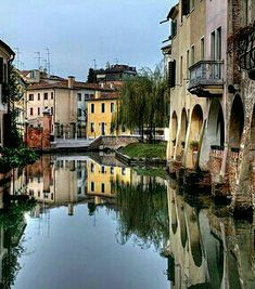 Treviso - Close to where Joe's Grandfather was from in Northern Italy Wonderful Places, Beautiful Places, Amazing Places, Places To Travel, Places To See, Places Around The World, Around The Worlds, Treviso Italy, Best Of Italy