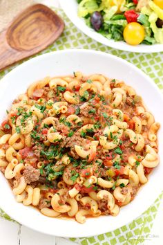 This One Pot Goulash is comfort food that will remind you of Grandma's kitchen! A hearty and satisfying dish! When I think of Fall, I think of comfort food. Beef Dishes, Pasta Dishes, Food Dishes, Main Dishes, Great Recipes, Dinner Recipes, Favorite Recipes, Dinner Ideas, Family Recipes