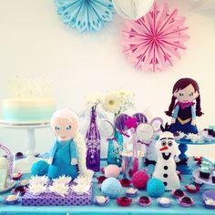 Festa Frozen - decoração mini mimo festas