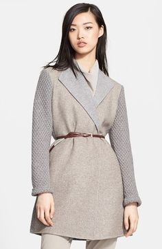 Fabiana Filippi Belted Wool Blend & Knit Coat available at #Nordstrom