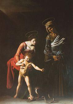 Galleria Borghese, Caravaggio, Madonna dei Palafrenieri   Michelangelo Merisi (o Amerighi), noto come il CARAVAGGIO (Milano, 29 settembre 1571 – Porto Ercole, 18 luglio 1610)  #TuscanyAgriturismoGiratola