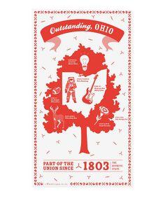 Look at this #zulilyfind! Ohio State Kitchen Towel by Vestiges #zulilyfinds