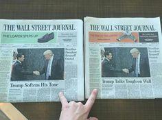 Importantes medios como The New York Times, The Wall Street Jornal y The Washington Post  apoyaron en portada a México, USA Today incluso cambió su imagen por una bandera de México