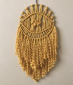 Mystic Eye Macrame Wall Hanging!
