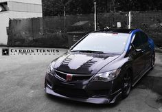 Our 2013 full carbon project Honda Civic FD2R , One year later. Picture taken in July 2014. Picture 2
