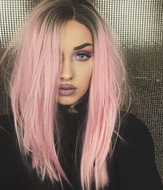 Pink Wig Ideas for Your Next Day - Hair Beauty Light Pink Hair, Pastel Pink Hair, Pink Wig, Long Pink Hair, Brown And Pink Hair, Baby Pink Hair, Girl With Pink Hair, Coloured Hair, Colored Wigs