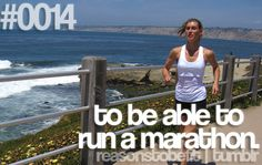 At some point in the next few years....I wanna run even just a mini-marathon...that is the goal!