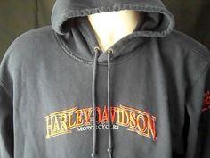 HARLEY DAVIDSON MOTORCYCLES Mens M Sweatshirt Blue York Pa  Vehicle Operations #HARLEYDAVIDSON #Hoodie