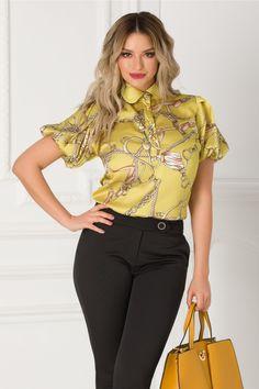bluza vaporoasa galbena  cu imprimeu pret bluza vaporoasa galbena ieftine Cauta acum Haine online ieftine si de firma din magazinele online de haine!