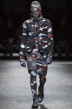 I mean, come on! All in. All in. The ENTIRE collection was slight variations on this. Moncler Gamme Bleu Fall 2016