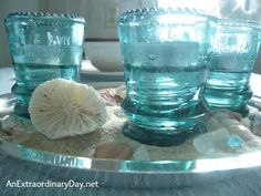 Create the feeling of a day at the beach with a casual coastal tablescape.