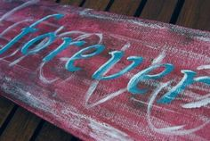 Forever word art painting Original acrylic on by NewCreatioNZ, $28.00