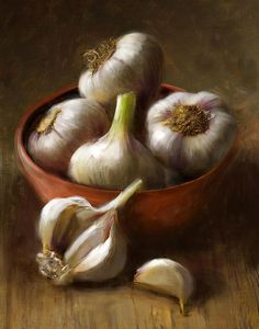 Title - Garlic Artist - Robert Papp Medium - Painting Description - As featured in Cooks Illustrated magazine.