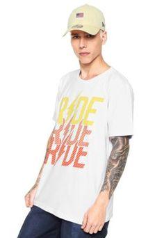 Camiseta Ride Skateboard Line Cut Branca