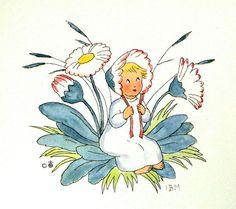 vintage ida bohatta illustration print pastel by daisychainvintage