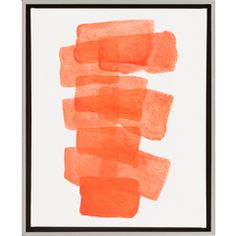 Surya ColorBlock x Composition Framed Digitally Printed Abs Coral Home Decor Wall Decor Paintings and Prints Frames On Wall, Framed Wall Art, Wall Art Decor, Canvas Wall Art, Canvas Prints, Orange Wall Art, Orange Walls, Orange Yellow, Painting Frames