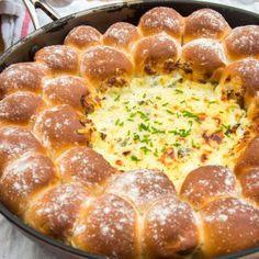 Dough Balls with Cheesy Chard Dip