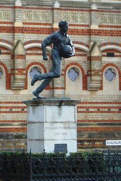Webb Ellis Statue, Rugby Rugby, Buddha, England, Sculpture, Statue, Art, Craft Art, Sculpting, Kunst