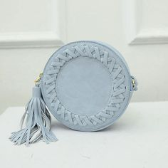 Round Women Tassel Bag Woven Crossbody Bags For Womens Shoulder Bag Ladies Cute Knitting Circular Women Messenger Bags Summer