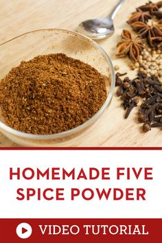 Do you want to know how to make Thai food at home? Have this spice at hand! Five spice powder is a key ingredient in Chinese and Thai cooking, and it adds a complex flavour to marinates, soups, stews, and much more! Making your own from whole spices is so simple, and it's much more aromatic than buying pre-ground from the store! |how to make Thai food at home |how to cook Thai food Homemade Spices, Homemade Seasonings, Thai Cooking, Asian Cooking, Easy Asian Recipes, Thai Recipes, Thia Food, Kitchen Recipes, Cooking Recipes