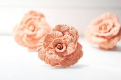 for the reception, gorgeous flower Place Card Holders - 50 Handmade Roses by LilisInspiration