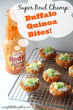 Super Bowl Champ: Buffalo Quinoa Bites | everylittlethingblog.com